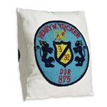 USS HENRY W. TUCKER Burlap Throw Pillow