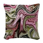 Native American Sage Bloom Woven Throw Pillow