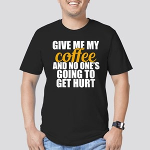 Give Me Coffee Men's Fitted T-Shirt (dark)