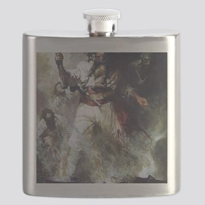 Blackbeard in Smoke and Flames Flask