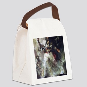 Blackbeard in Smoke and Flames Canvas Lunch Bag