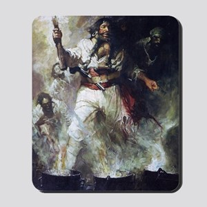 Blackbeard in Smoke and Flames Mousepad