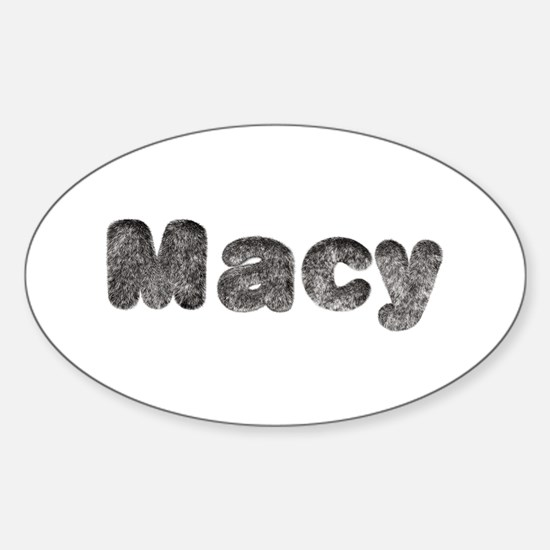 Macy Wolf Oval Decal