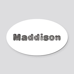 Maddison Wolf Oval Car Magnet