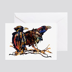 Raven Trio Greeting Card