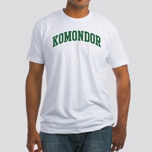 Komondor (green) Fitted T-Shirt