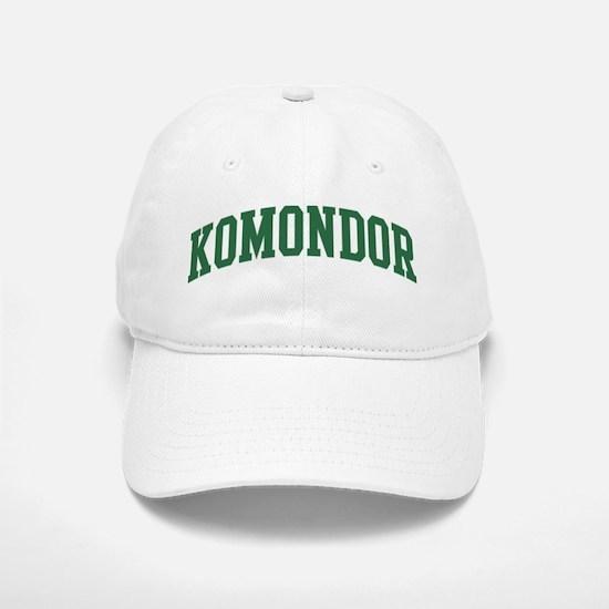 Komondor (green) Baseball Baseball Cap