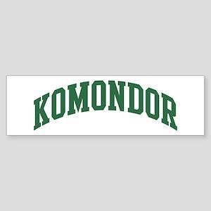 Komondor (green) Bumper Sticker