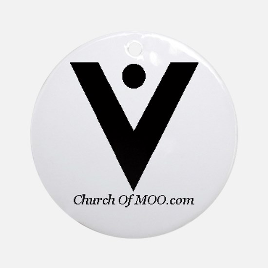 Church of MOO Ornament (Round)