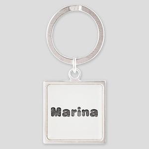 Marina Wolf Square Keychain