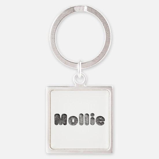 Mollie Wolf Square Keychain