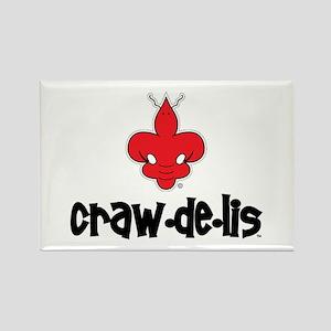 The ORIGINAL craw-de-lis Rectangle Magnet