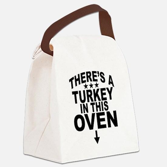 Cute Pregnancy Canvas Lunch Bag