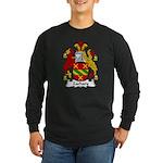 Zachary Family Crest Long Sleeve Dark T-Shirt