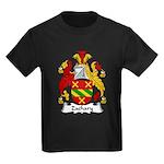 Zachary Family Crest Kids Dark T-Shirt