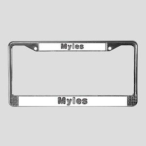 Myles Wolf License Plate Frame