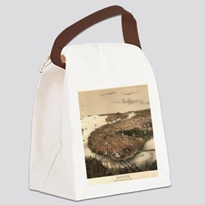 Vintage Pictorial Map of Boston ( Canvas Lunch Bag