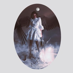 The Last Angel Ornament (Oval)