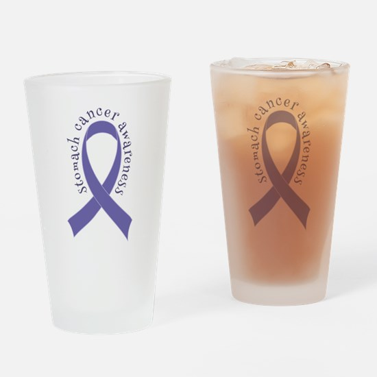 Stomach Cancer Ribbon Drinking Glass