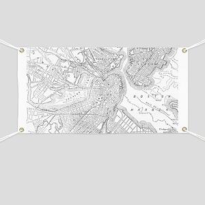 Vintage Map of Boston (1878)  Banner