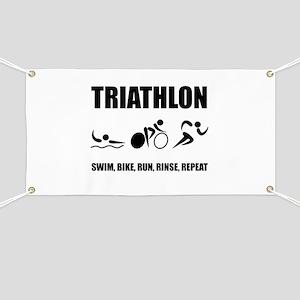 Triathlon Rinse Repeat Banner