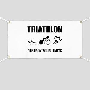 Triathlon Destroy Banner