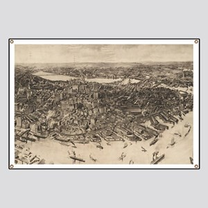 Vintage Pictorial Map of Boston (1905) (2) Banner