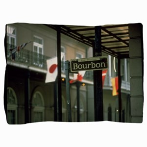 Bourbon Street Sign in New Orleans Pillow Sham