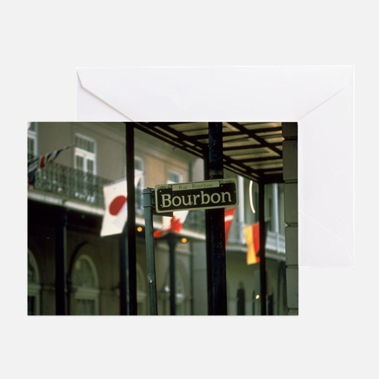 Bourbon Street Sign in New Orleans Greeting Card