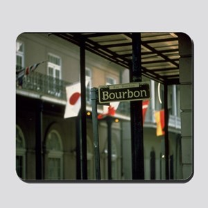 Bourbon Street Sign in New Orleans Mousepad