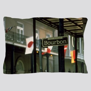 Bourbon Street Sign in New Orleans Pillow Case
