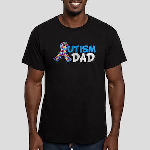 Autism Dad Blue Men's Fitted T-Shirt (dark)