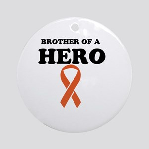 Brother of a Hero Round Ornament