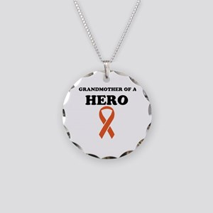 Grandmother of a Hero Necklace Circle Charm