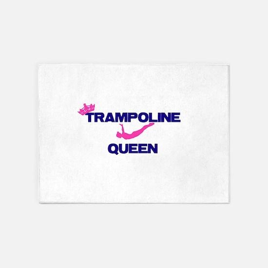 Trampoline Queen 5'x7'Area Rug