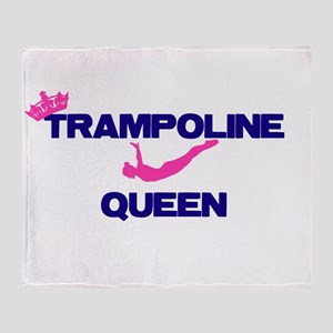 Trampoline Queen Throw Blanket