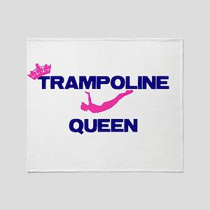 Trampoline Queen Throw Blanket