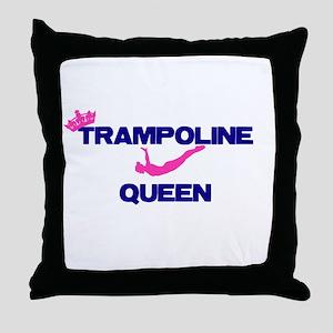 Trampoline Queen Throw Pillow