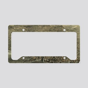 Vintage Pictorial Map of Buff License Plate Holder
