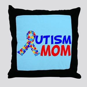 Autism Mom Throw Pillow