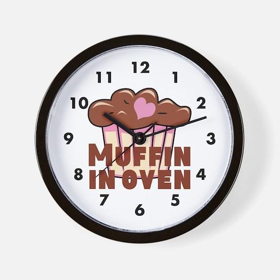 Pink Chocolate Muffin Wall Clock