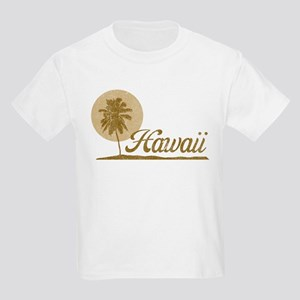 Palm Tree Hawaii Kids Light T-Shirt