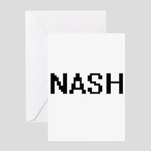 Nash digital retro design Greeting Cards