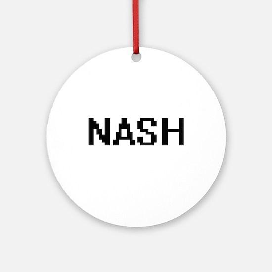 Nash digital retro design Ornament (Round)