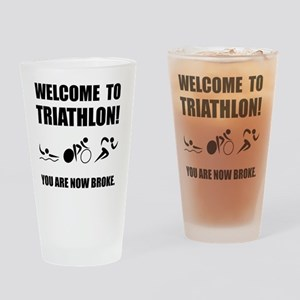 Triathlon Broke Drinking Glass
