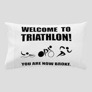 Triathlon Broke Pillow Case