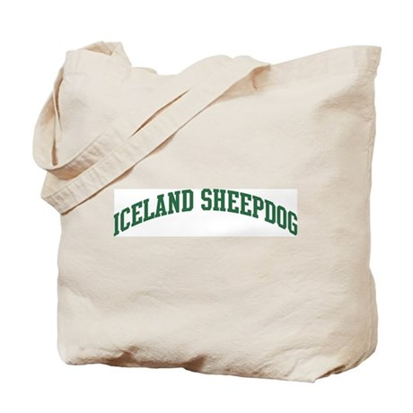 Iceland Sheepdog (green) Tote Bag
