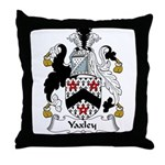 Yaxley Family Crest Throw Pillow