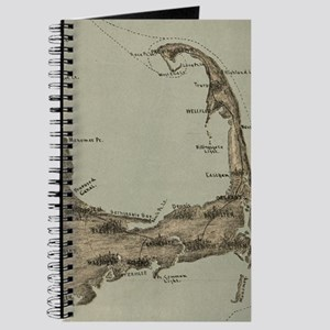 Vintage Map of Cape Cod (1885) Journal