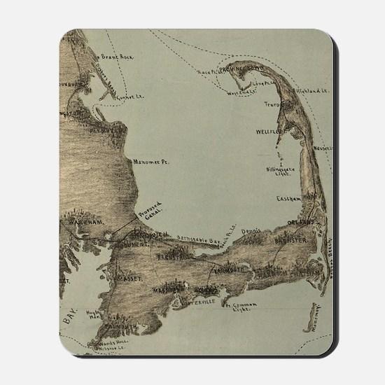 Vintage Map of Cape Cod (1885) Mousepad
